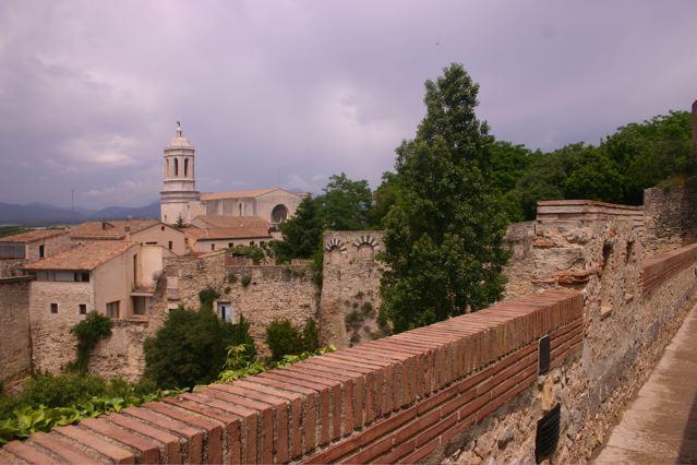 Girona wall, cathedral