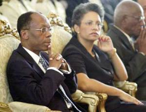 Jean-Bertrand Aristide & Mildred Trouillot Aristide
