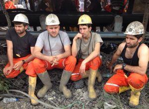 Miners at Soma coal mine