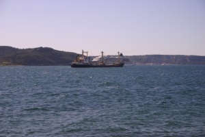 Ship traffic on the Dardanelles