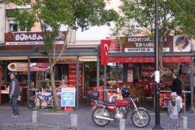 Shops along the kordon