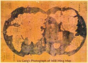 Zhong He's map, 1418