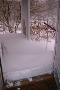 Garage door to porch