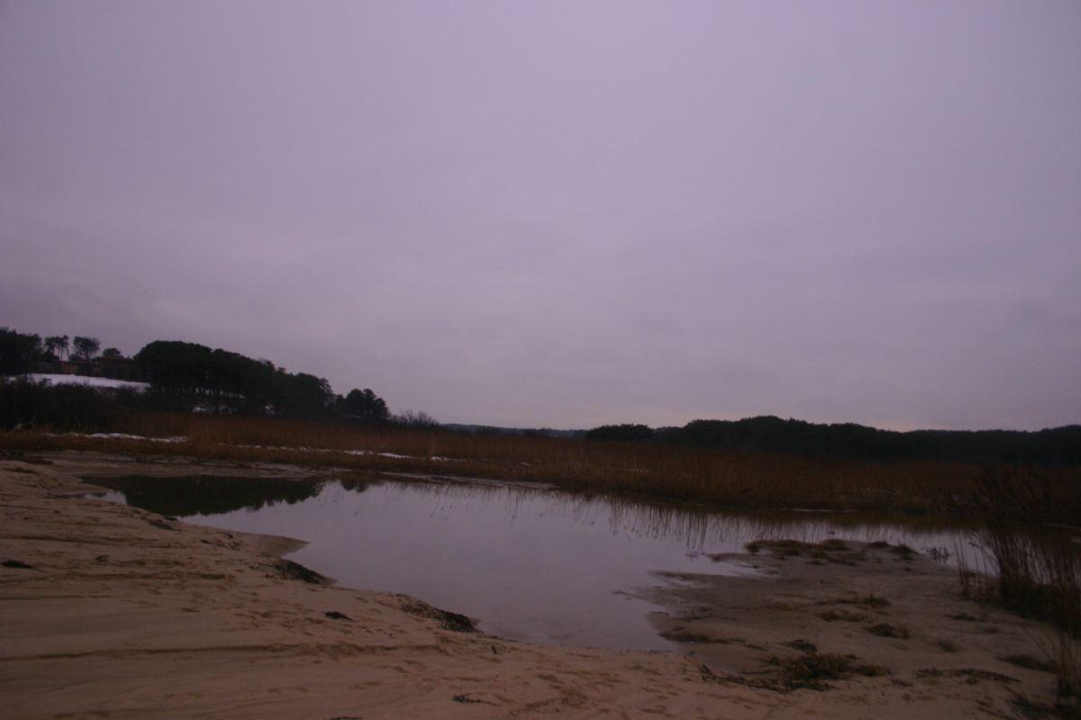 Headwater of Pamet River, now salt