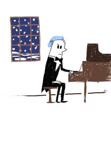 Mozart on a snowy evening