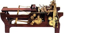 Patent model of Knight's machine for making paper bags, 1879