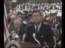 President Kennedy speaking on the space program at Rice University, Sep 12, i962