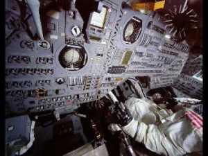 Interior of actual Apollo capsule (not my simulated one)