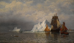 Whaler and fishing vessels near the Coast of Labrador, William Bradford
