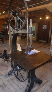 Band saw in the restored factory