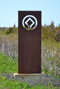 World Heritage Convention symbol at L'Anse Aux Meadows
