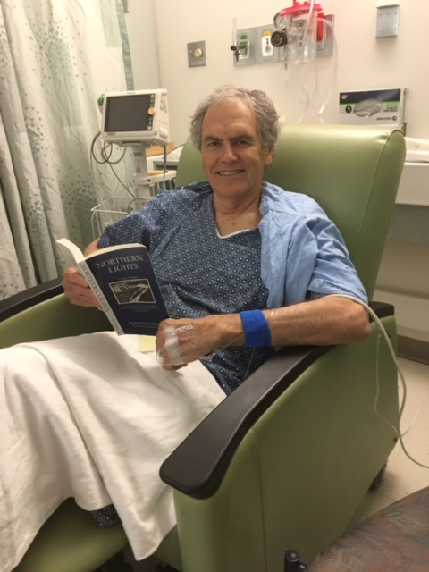 Enjoying Northern Lights (about a true-life, foolhardy adventure) prior to surgery