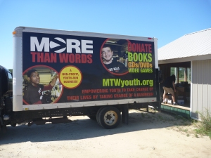 Backing the MTW truck up to the shed