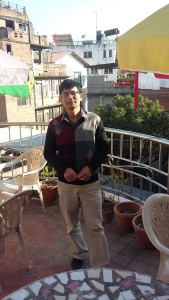 Amrit Paudel from a deck at TFN