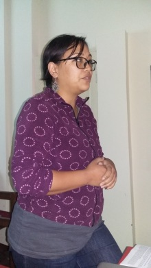 Swastika Shrestha presenting at the PENN workshop
