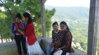 Climb to the temple in Bandipur