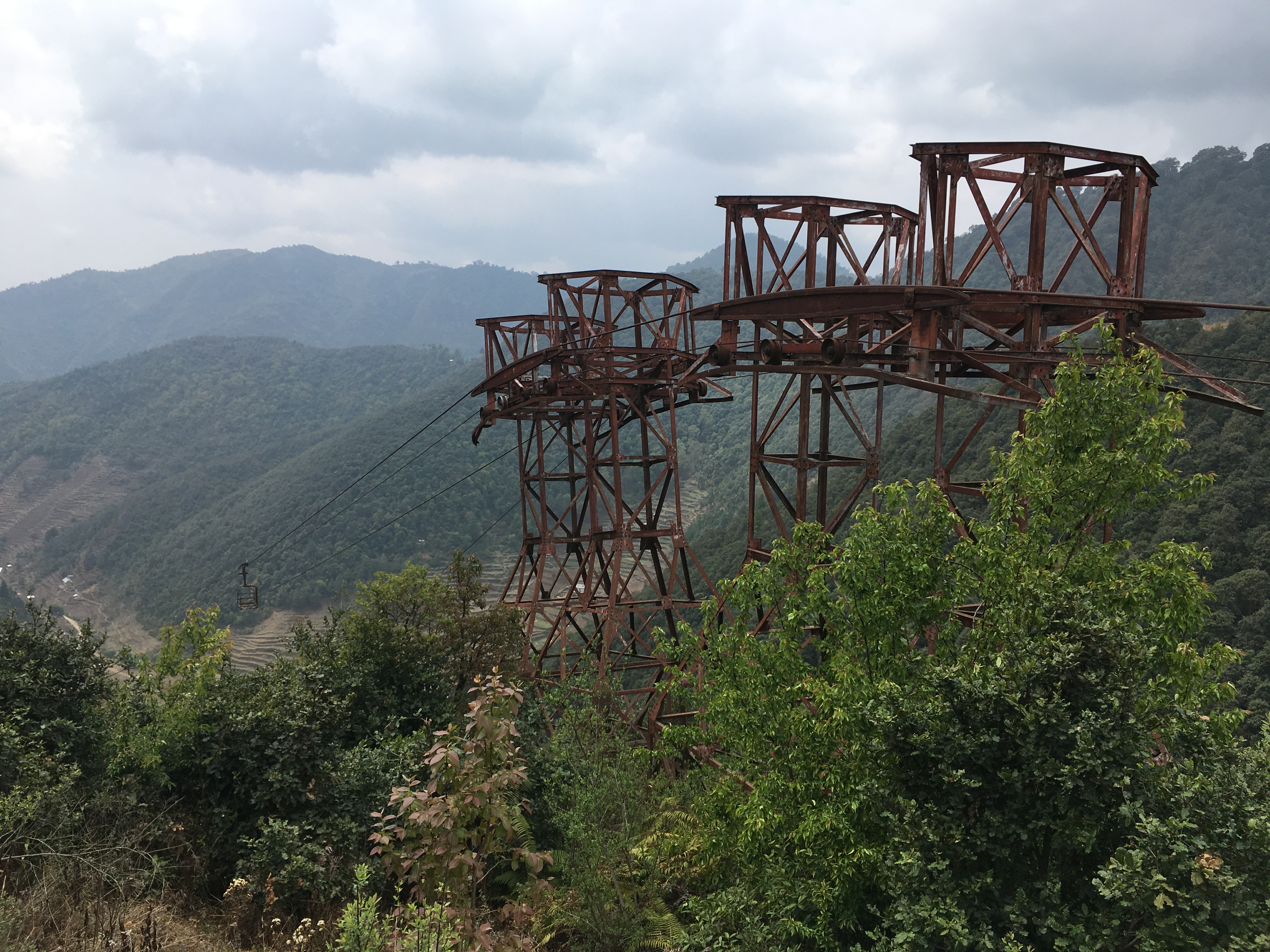 Abandoned cable car, for industrial use
