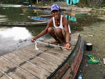 Navaraj repairs a 35 year old doonga