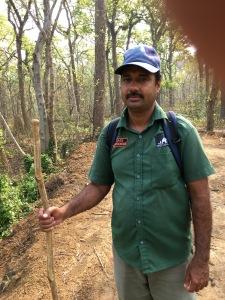Raju, with trusty stick