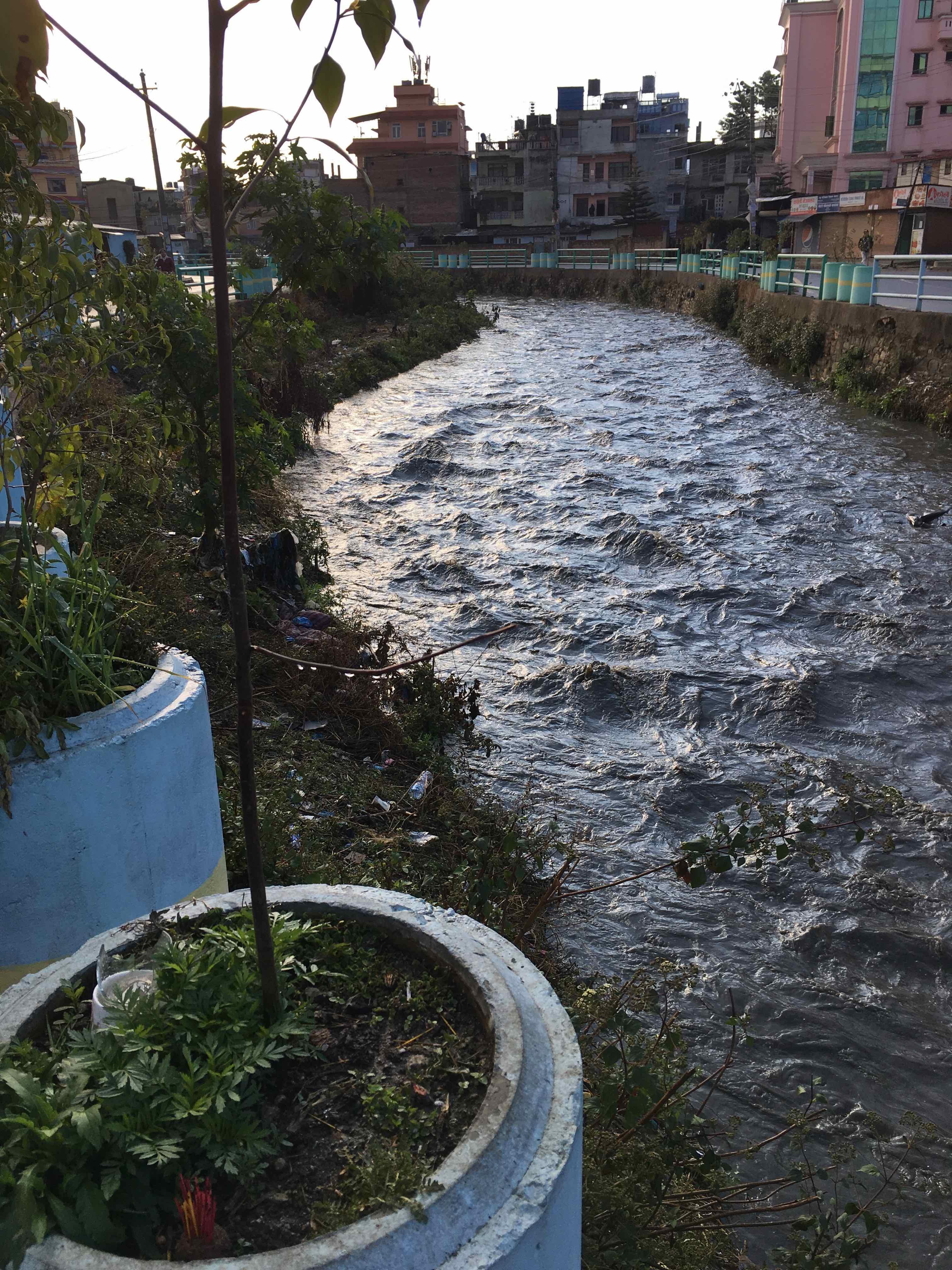 Dhoki Khola in flood