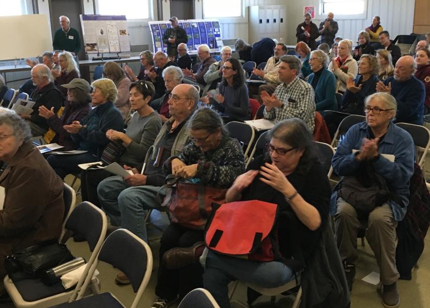 Audience at Wellfleet Elementary School
